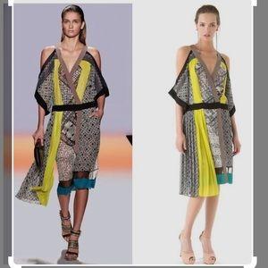 BCBG MaxAzria Runway multicolour silk dress